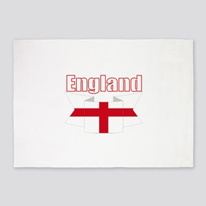 English Flag Ribbon - St George Cross 5'x7'Area Ru