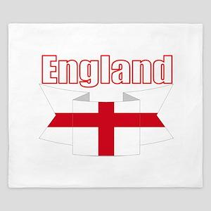 English Flag Ribbon - St George Cross King Duvet