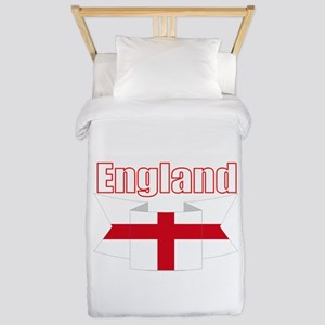 English Flag Ribbon - St George Cross Twin Duvet