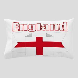 English Flag Ribbon - St George Cross Pillow Case