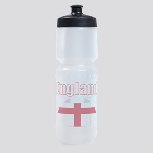 English Flag Ribbon - St George Cross Sports Bottl