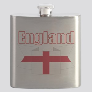 English Flag Ribbon - St George Cross Flask