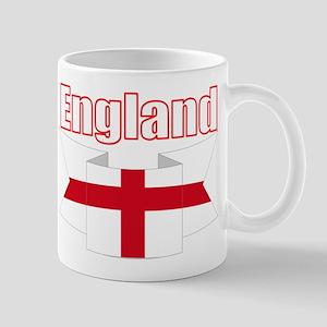 English Flag Ribbon - St George Cross Mugs