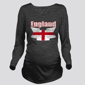 English Flag Ribbon - St George Cross Long Sleeve