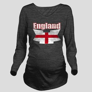 English Flag Ribbon - St George Cross Long Sleeve