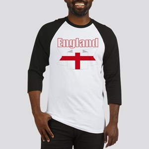 English Flag Ribbon - St George Cross Baseball Jer