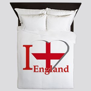 I Love England - St George Cross Queen Duvet