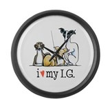 Italian greyhound Giant Clocks