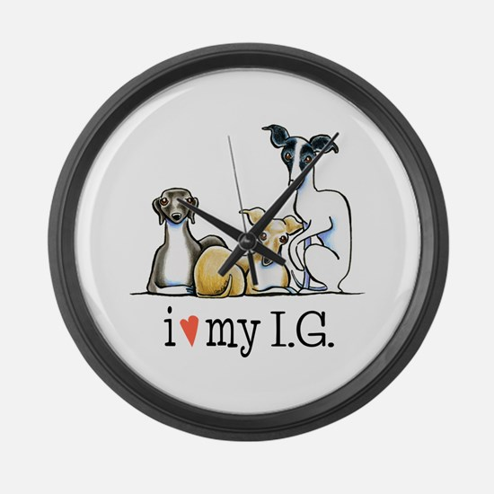IG Lover Large Wall Clock