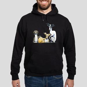 Italian Greyhound Trio Hoodie