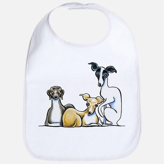 Italian Greyhound Trio Bib