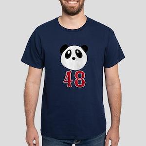 48 Kung Fu Panda Red Sox Dark T-Shirt