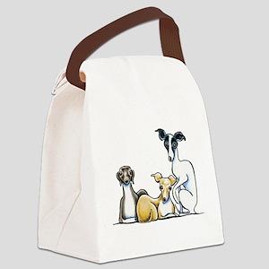 Italian Greyhound Trio Canvas Lunch Bag