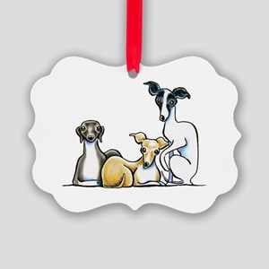 Italian Greyhound Trio Ornament