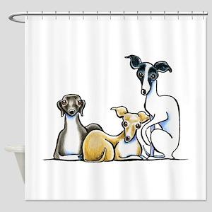 Italian Greyhound Trio Shower Curtain