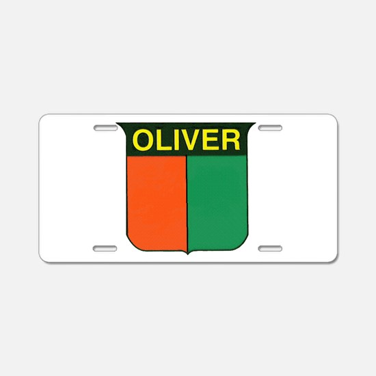 oliver 2.gif Aluminum License Plate