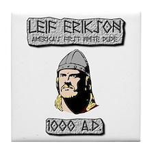 Leif Erikson: America's First White Dude Tile Coas
