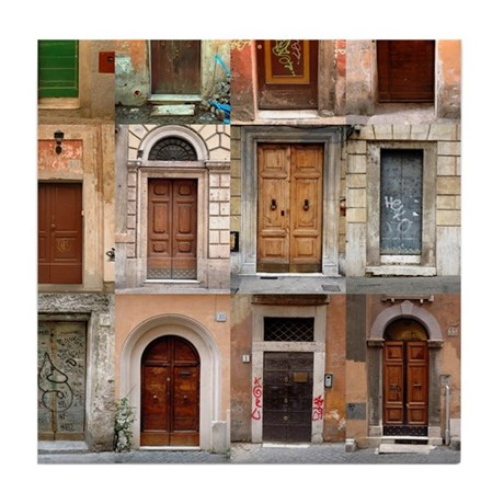 Old Italian Doors Art Tile Set - 6 of 6  sc 1 st  CafePress & Old Italian Doors Art Tile Set - 6 of 6 by oshishop