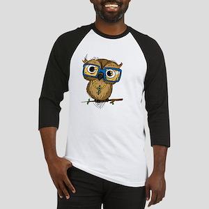 Owl Hipster Baseball Jersey