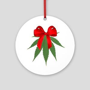 A Pot Of Mistletoe Ornament (round)
