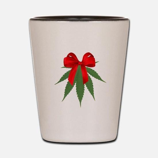 A Pot of Mistletoe Shot Glass