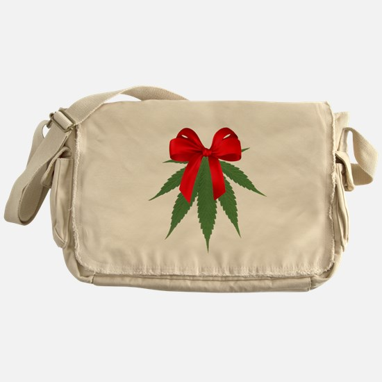 A Pot of Mistletoe Messenger Bag