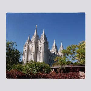 Salt Lake Temple, Plaza View Throw Blanket