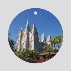 Salt Lake Temple, Plaza View Ornament (Round)