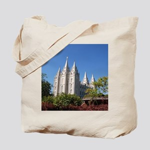 Salt Lake Temple, Plaza View Tote Bag