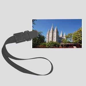 Salt Lake Temple, Plaza View Luggage Tag