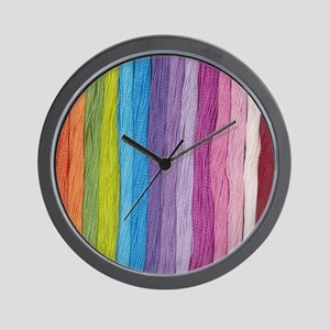 Thread Colors Wall Clock