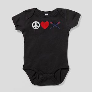 Lax Girls Lacrosse. lacross13black Baby Bodysuit