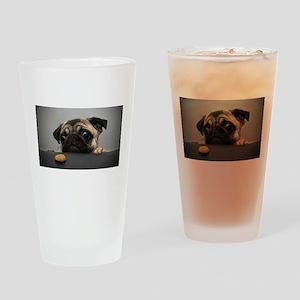 Cute Pug Drinking Glass