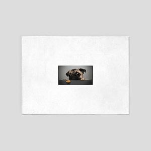 Cute Pug 5'x7'Area Rug