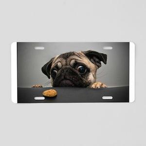 Cute Pug Aluminum License Plate
