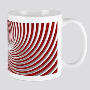 Red Peppermint Swirl and Shadows Mugs