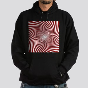 Red Peppermint Swirl and Shadows Hoodie