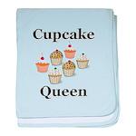 Cupcake Queen baby blanket