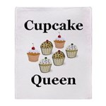 Cupcake Queen Throw Blanket