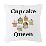 Cupcake Queen Woven Throw Pillow