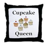 Cupcake Queen Throw Pillow