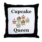 Cupcake Queen Throw Pillow