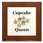 Cupcake Queen Framed Tile