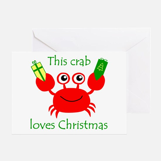 Christmas Crab Greeting Card