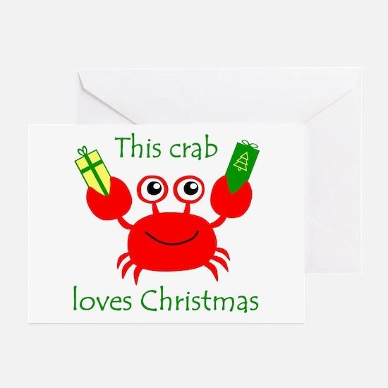 Christmas Crab Greeting Cards (Pk of 10)