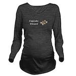 Cupcake Wizard Long Sleeve Maternity T-Shirt