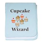 Cupcake Wizard baby blanket