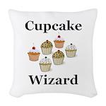 Cupcake Wizard Woven Throw Pillow
