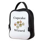 Cupcake Wizard Neoprene Lunch Bag