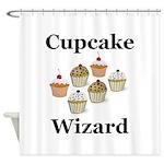 Cupcake Wizard Shower Curtain